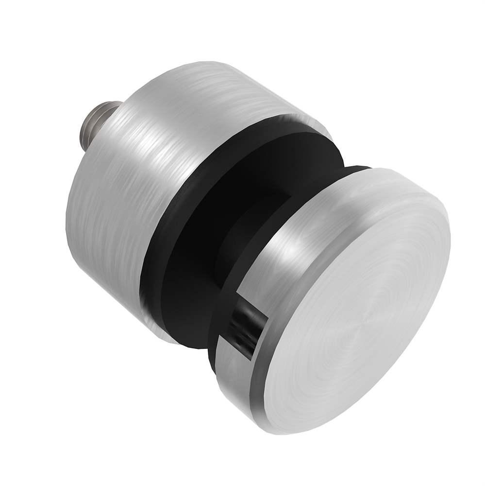 Glas-Punkthalter Ø 30 mm für Anschluss flach/gerade V2A