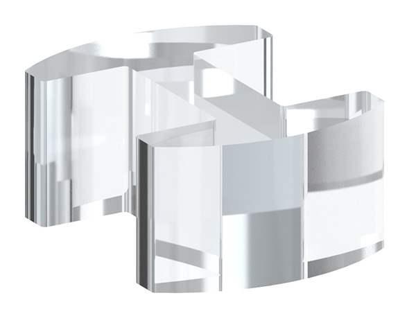 Glasausrichter | für Glas: 16,76-17,52 mm | PMMA Kunststoff