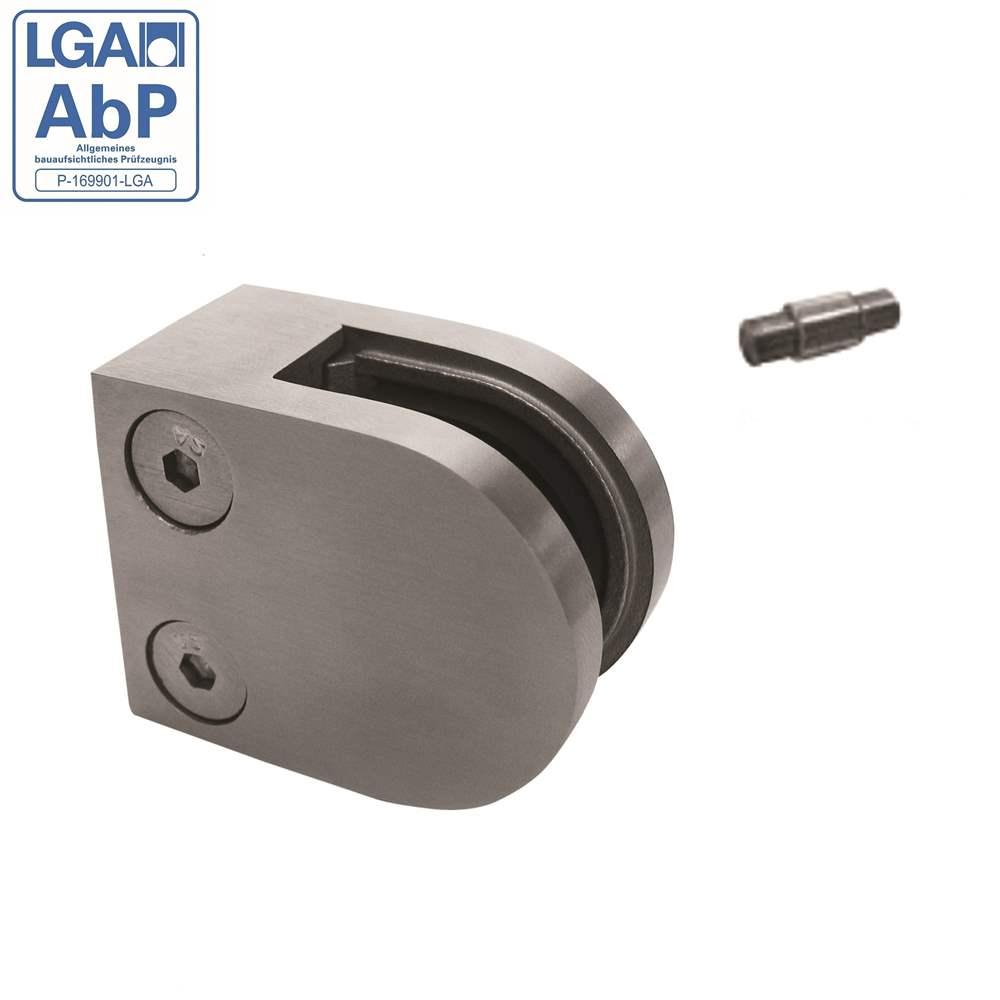 Glasklemme | Blechhalter |  Maße: 50x40x26 mm | Anschluss frei wählbar | V2A