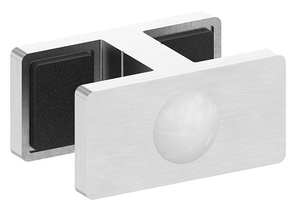 Glasklemme Doppel Glasscheibe  16,76 - 17,52 mm