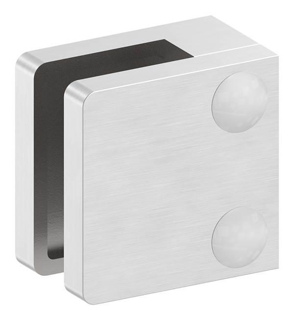 Glasklemme | Maße: 30x30x18 mm | Anschluss: Flach - Ø 42,4 mm | V2A