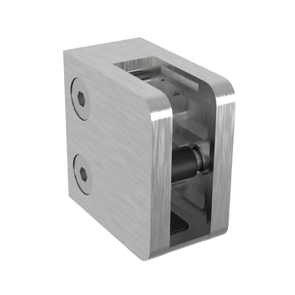 Glasklemme | Maße: 45x45x25 mm | mit Sicherungsboden | für Anschluss: flach | V2A