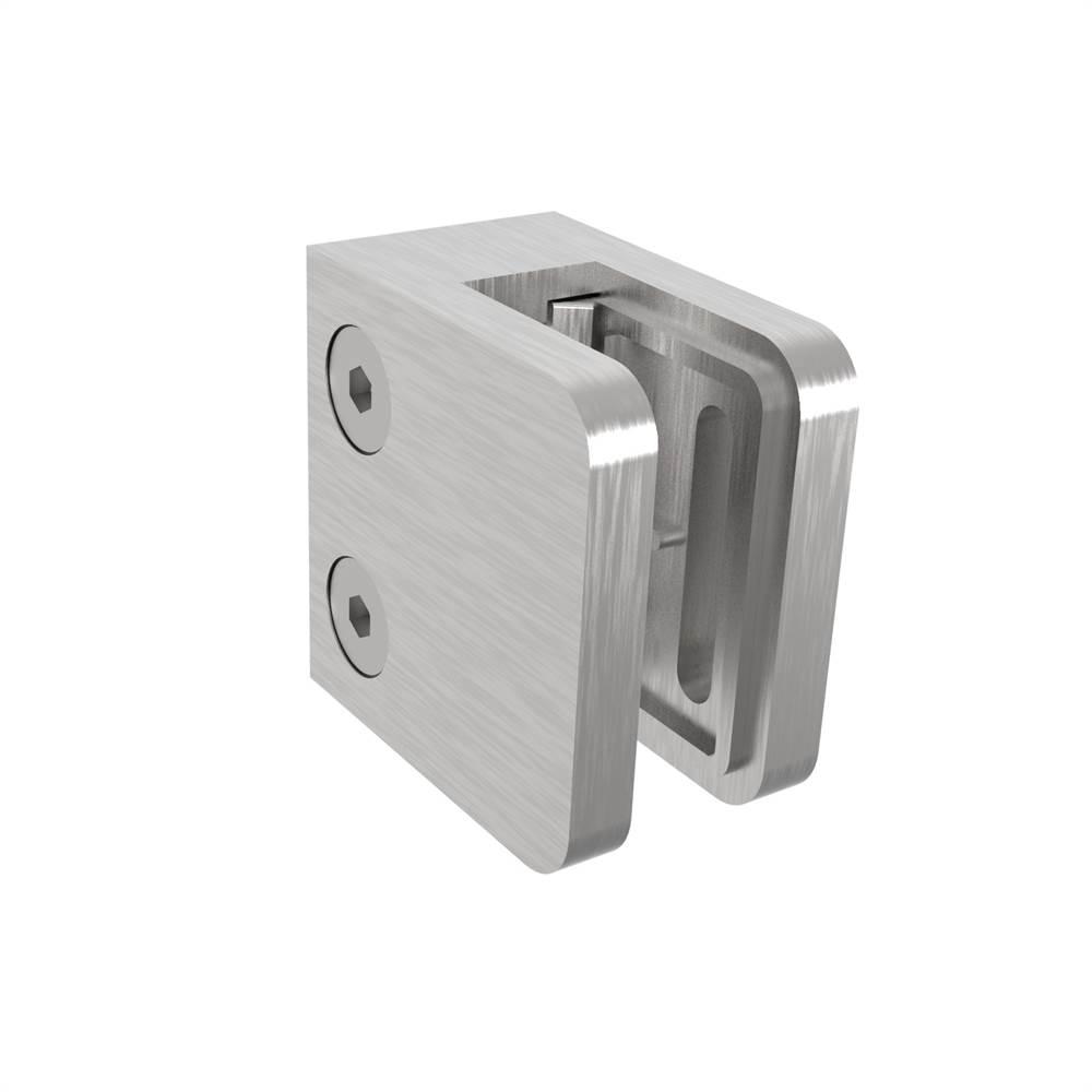 Glasklemme | Maße: 45x45x27 mm | Anschluss: Flach - Ø 48,3 mm | V2A