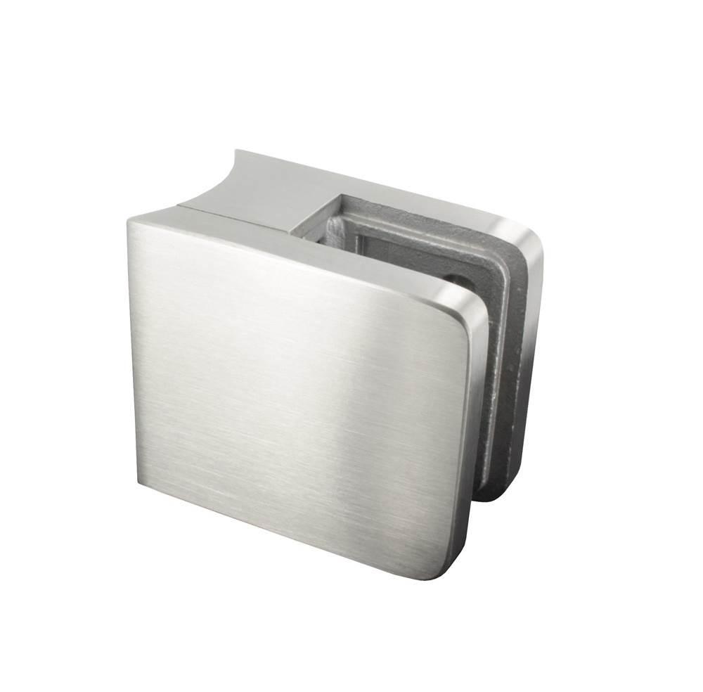 Glasklemme | Maße: 45x45x27 mm | für Anschluss: Ø 48,3 mm | V2A