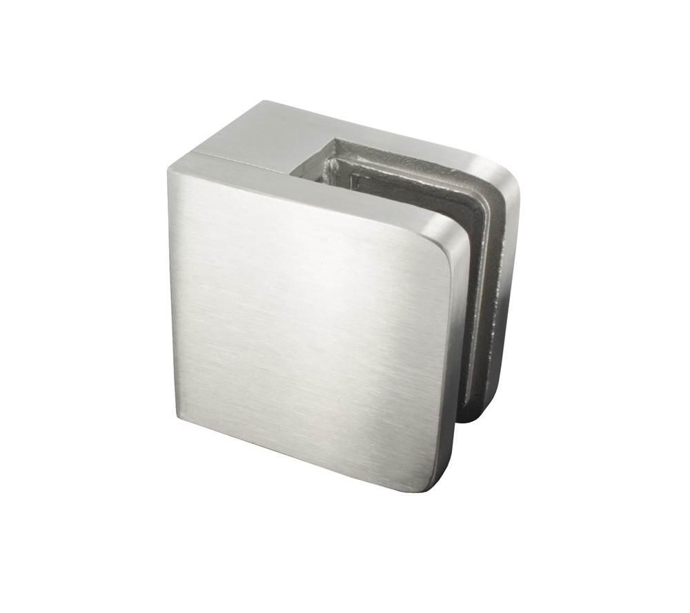 Glasklemme | Maße: 45x45x27 mm | für Anschluss: flach | V2A