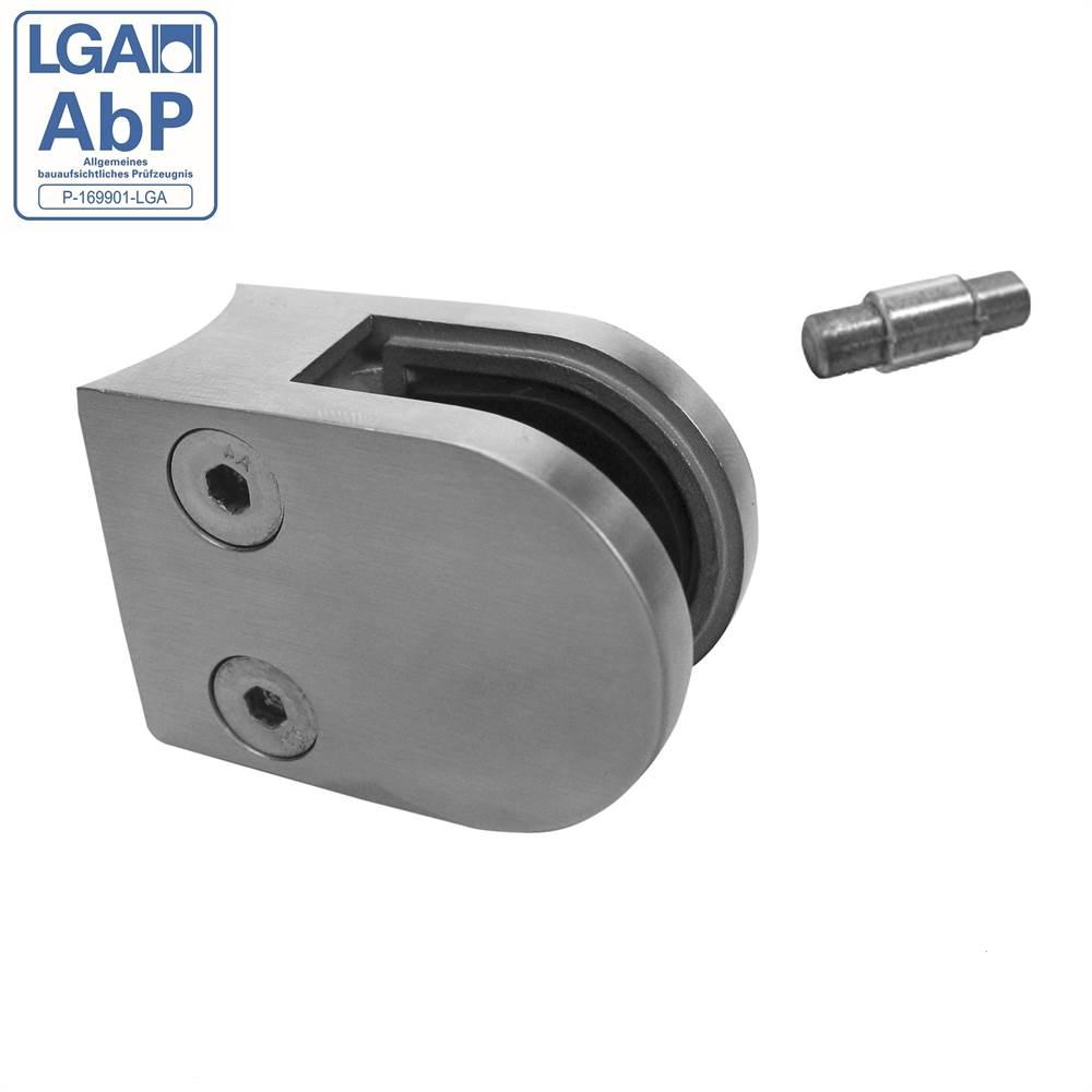 Glasklemme | Maße: 50x40x26 mm | Anschluss 33,7 mm | V2A