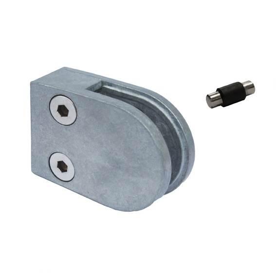 Glasklemme | Maße: 63x45x28 mm | für Anschluss: flach | Zink, roh