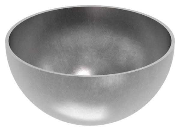 Halbhohlkugel Ø 100 mm | glatt | Stahl S235JR, roh