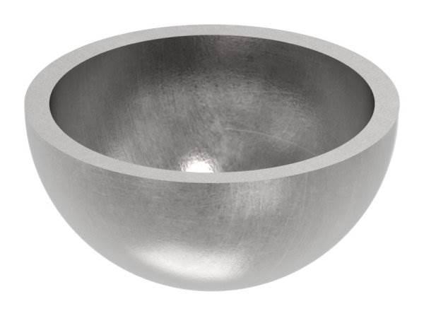 Halbhohlkugel Ø 30 mm | glatt | Stahl S235JR, roh