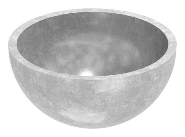 Halbhohlkugel Ø 40x2,0 mm V2A ungeschliffen