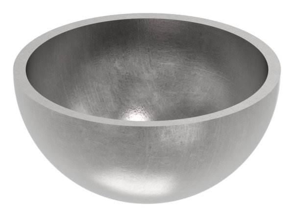 Halbhohlkugel Ø 42 mm | glatt | Stahl S235JR, roh