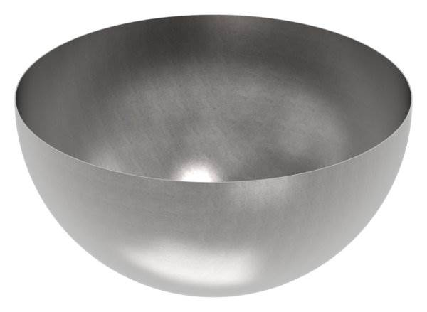 Halbhohlkugel Ø 600 mm | glatt | Stahl S235JR, roh