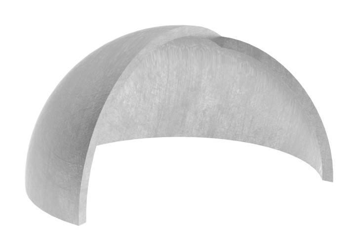 Halbhohlkugel Ø 80x2,0 mm V2A geschliffen