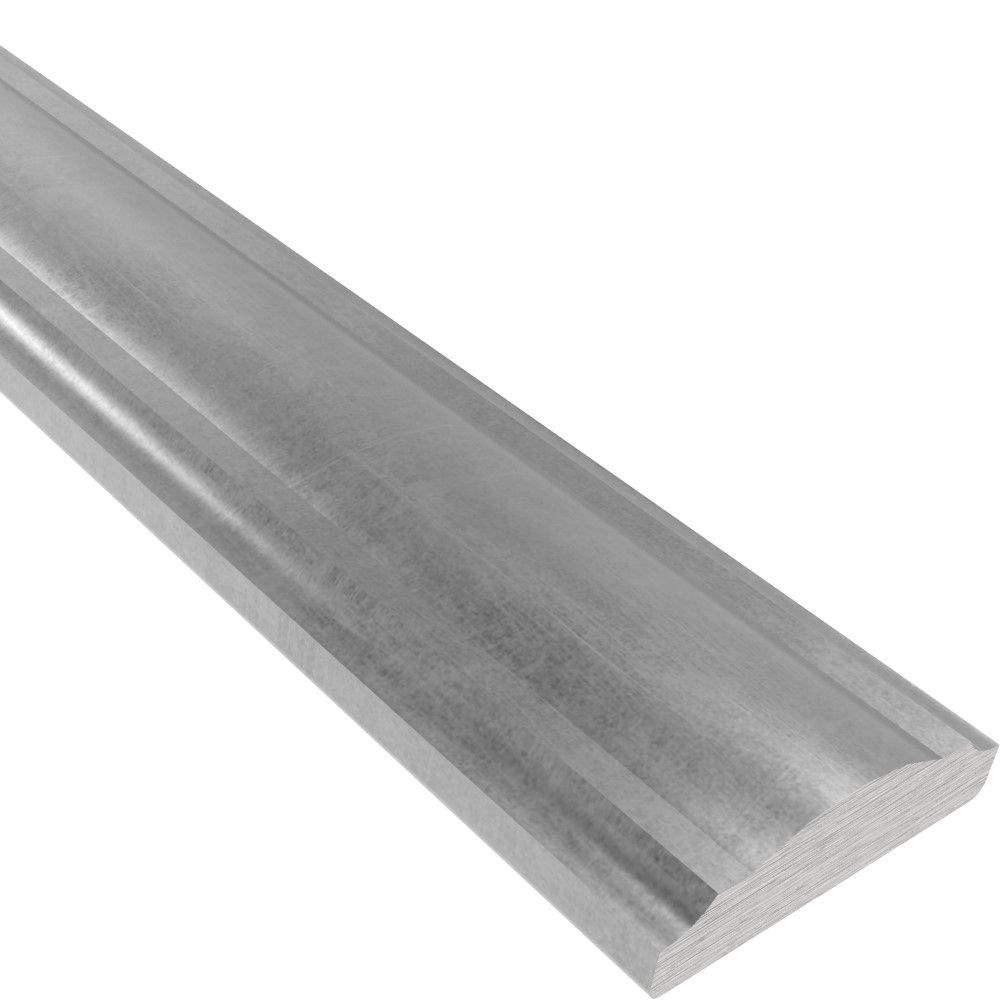 Handlauf | Halbrund | L?nge: 3000 mm | Material: 50x14 mm | Stahl (Roh) S235JR