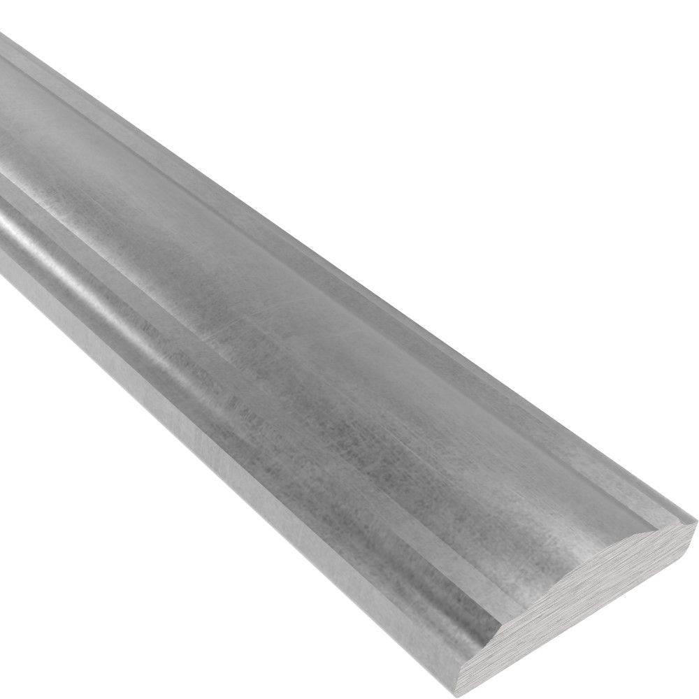 Handlauf | 40x12 mm | Länge: 3000 mm | Halbrund | Stahl (Roh) S235JR