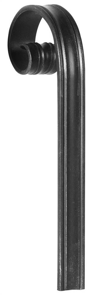 Handlauf-Endstück | Material: 40x8 mm | Längsrille | Stahl (Roh) S235JR