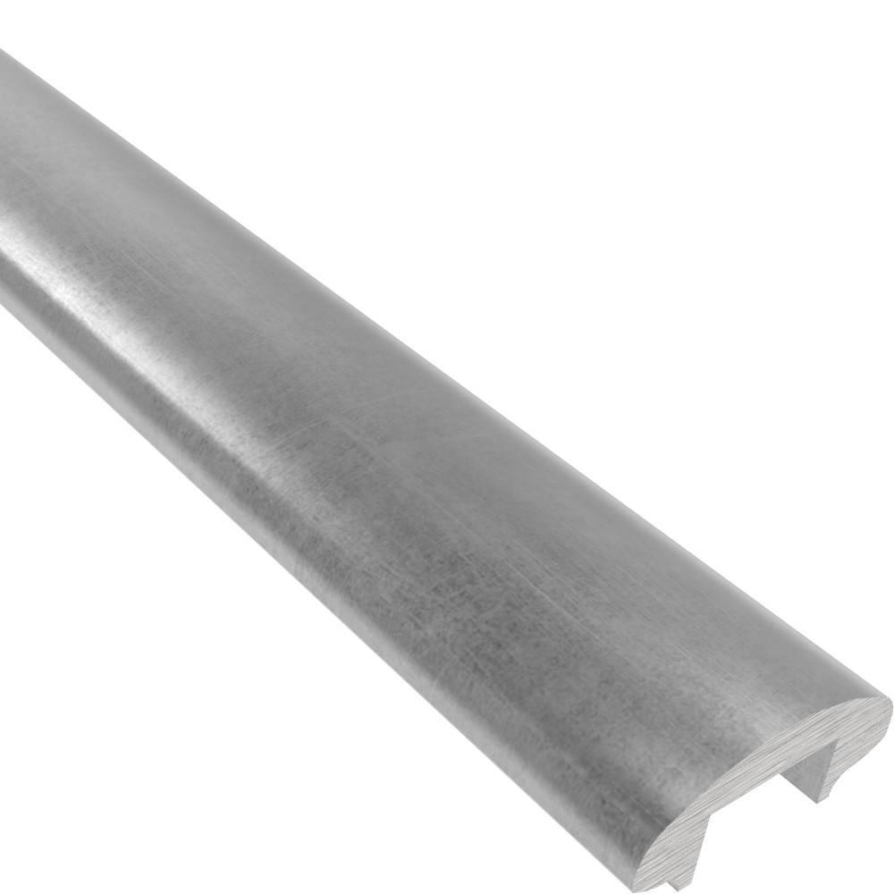 Handlauf | Maße: 50x22,5 mm | Länge: 6000 mm | mit Nut |  Stahl (Roh) S235JR