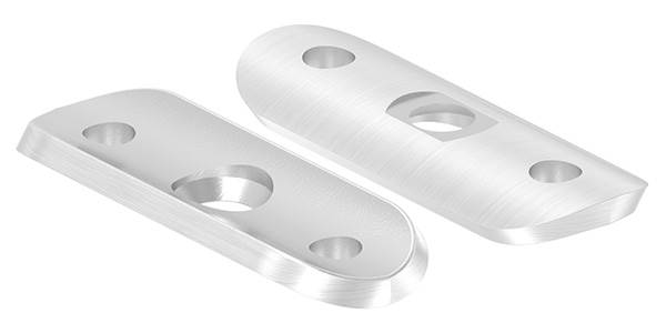 Handlaufanschlussplatte 63x25x4 mm für Rohr Ø 33,7 mm V2A