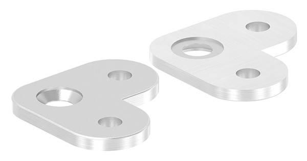 Handlaufanschlussplatte 90° (flach) V2A