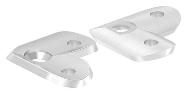 Handlaufanschlussplatte 90° für Rohr Ø 42,4 mm V4A
