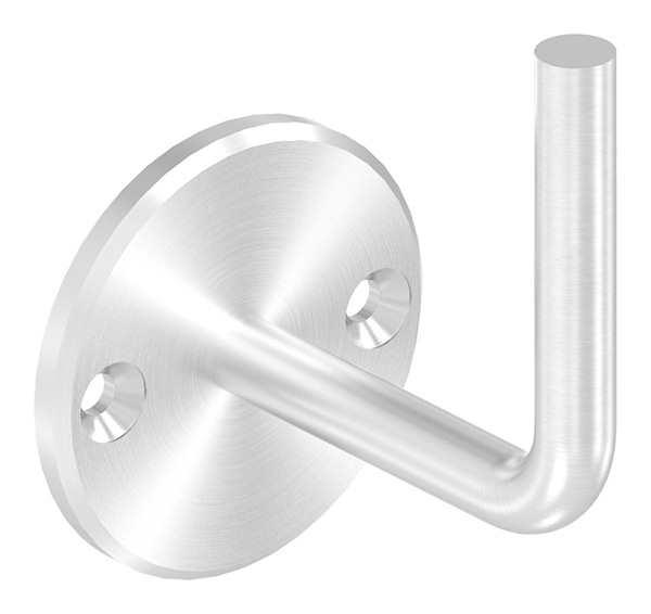 Handlaufhalter | mit Ronde 70 x 6 mm | zum Anschweißen | 2 Bohrungen | Edelstahl V2A AISI304