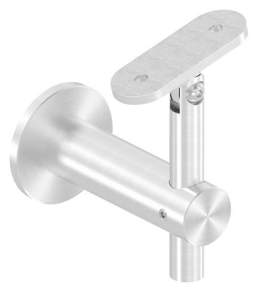 Handlaufhalter höhenverstellbar mit Halteplatte für flachen Anschluss V2A