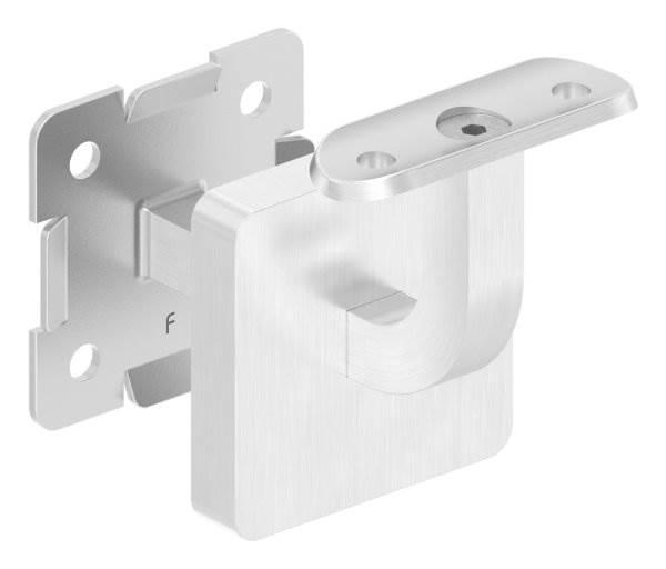 Handlaufhalter mit Cliprosette und Halteplatte für Ø 42,4 mm V2A
