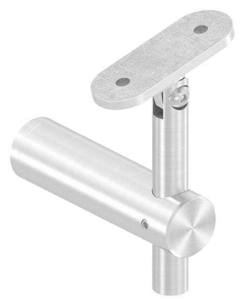 Handlaufhalter mit Gelenk und Halteplatte für flachen Anschluss V2A