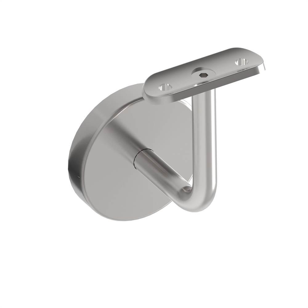 Handlaufhalter mit Halteplatte für Ø 42,4 mm V2A