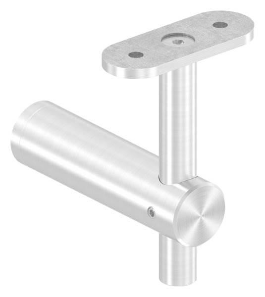 Handlaufhalter mit Halteplatte für flachen Anschluss V2A