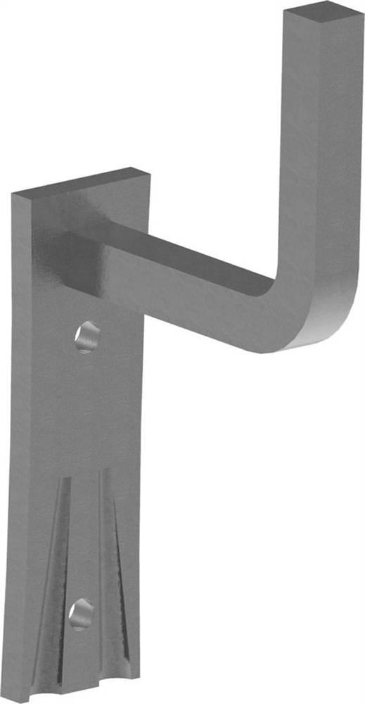 Handlaufhalter | mit Ronde 105x40x4 mm | zum Anschweißen | Stahl S235JR, roh