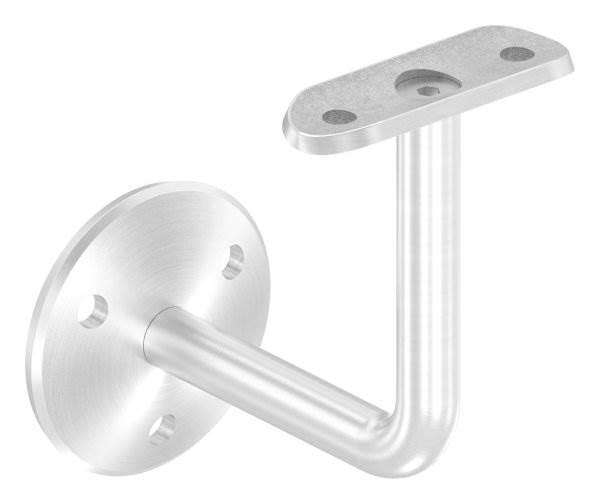 Handlaufhalter mit Ronde 58x4 mm und Halteplatte für Ø 42,4 mm V2A