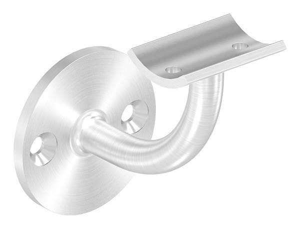Handlaufhalter mit Ronde 60x5 mm und Halteplatte für Ø 42,4 mm V2A