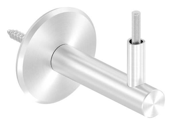 Handlaufhalter mit Ronde 68x5 mm und Halteplatte für Ø 42,4 mm V2A