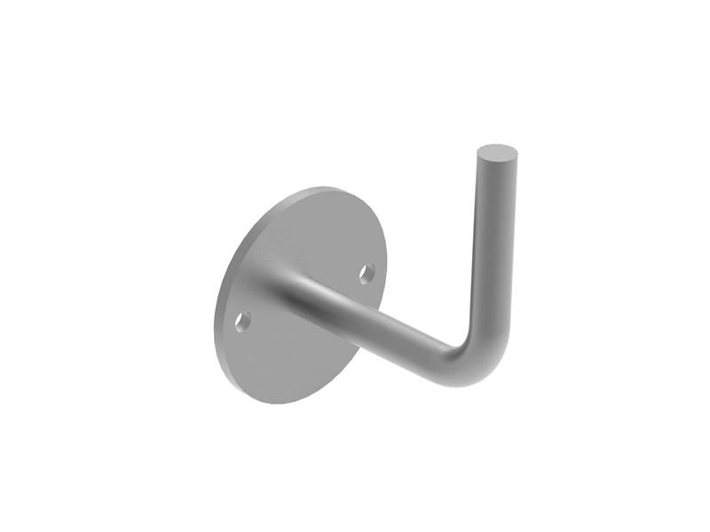 Handlaufhalter Ronde 66x4 mm   Bügel Ø 12 mm   Zum Anschweißen   Edelstahl V2A