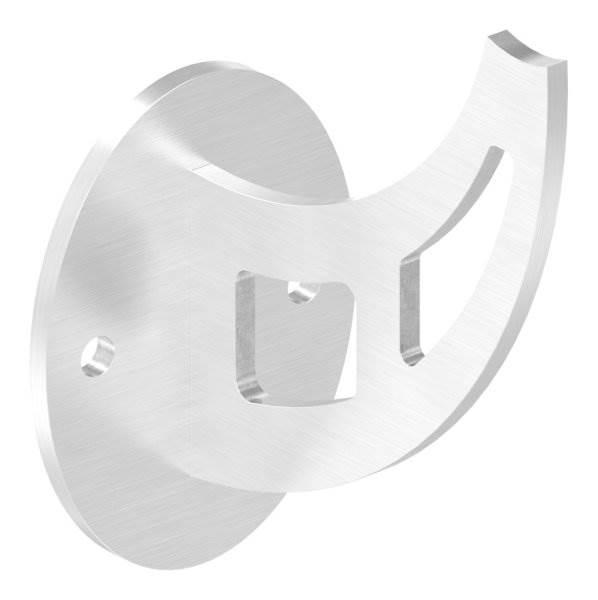 Handlaufschwert mit Ronde Ø 80 mm für Rohr Ø 42,4 mm V2A