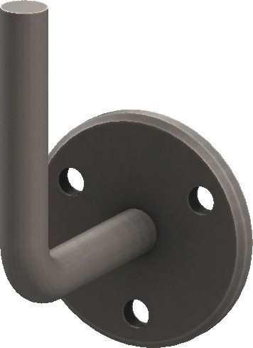 Handlaufhalter | mit Ronde 70x6 mm | zum Anschweißen | Stahl S235JR, roh