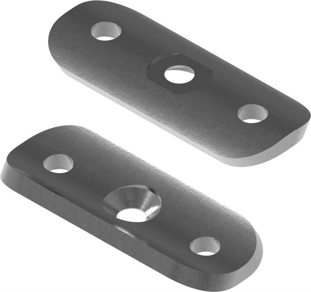 Halteplatte | 64x24x4 mm | für Rundrohr Ø 42,4 mm | Stahl S235JR, roh