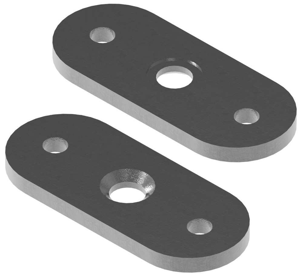 Halteplatte | 64x24x4 mm | für Vierkant/flach | Stahl S235JR, roh