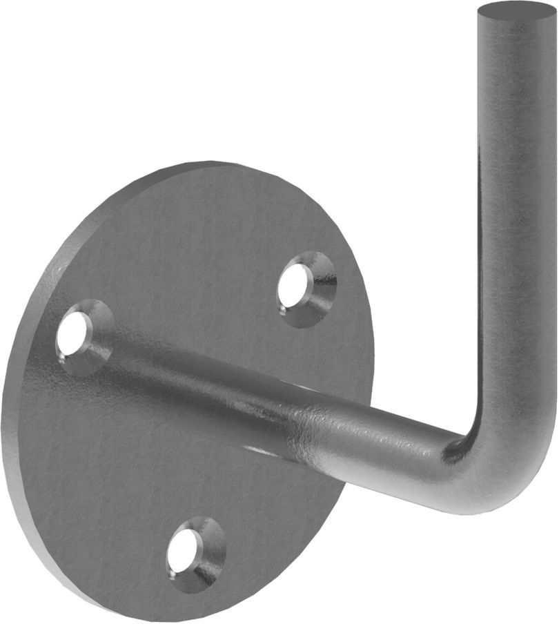 Handlaufhalter | mit Ronde 70x4 mm | zum Anschweißen | Stahl S235JR, roh