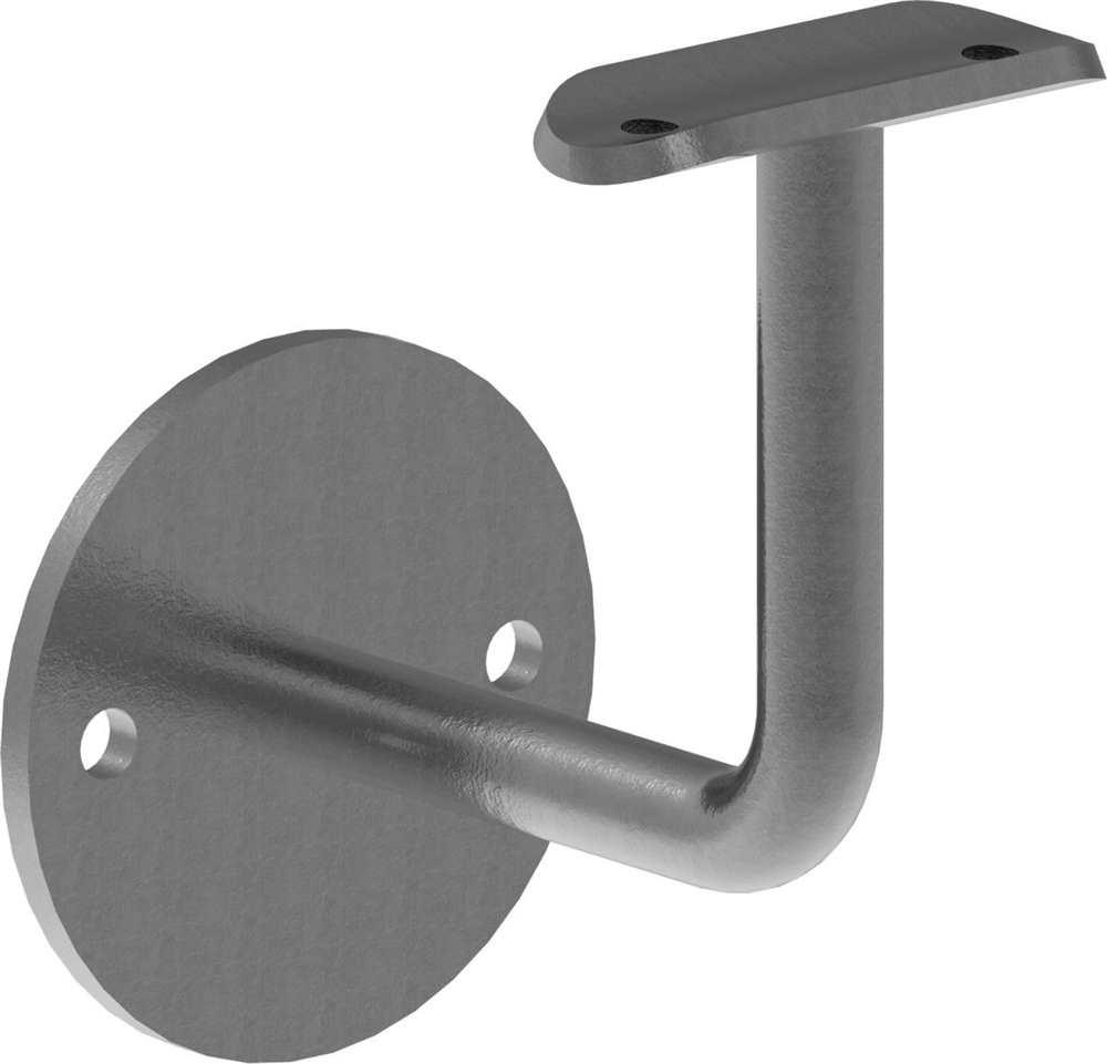 Handlaufhalter | mit Ronde 70x4 mm | mit Halteplatte f | Stahl S235JR, roh