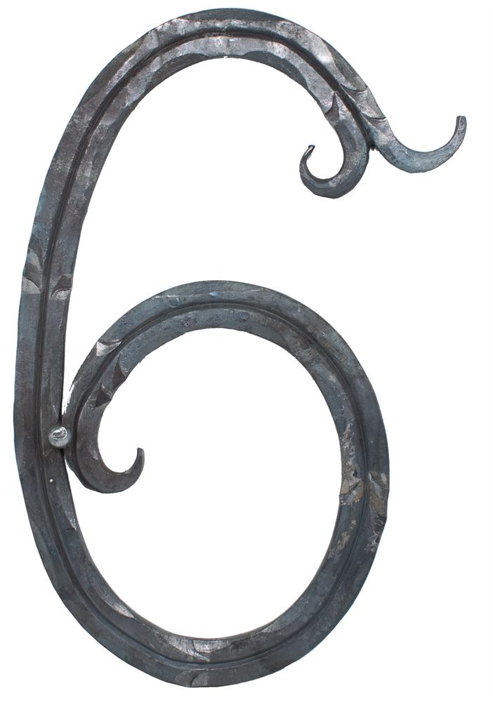 Hausnummer Zahlen 0 Abmessung 18 x 10 cm Material 12 x 5 mm Roh Stahl S235JR