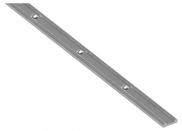 Hespeneisen mit Nietenköpfen   Material: 30x8x4 mm   Länge: 3000 mm   Stahl (Roh) S235JR
