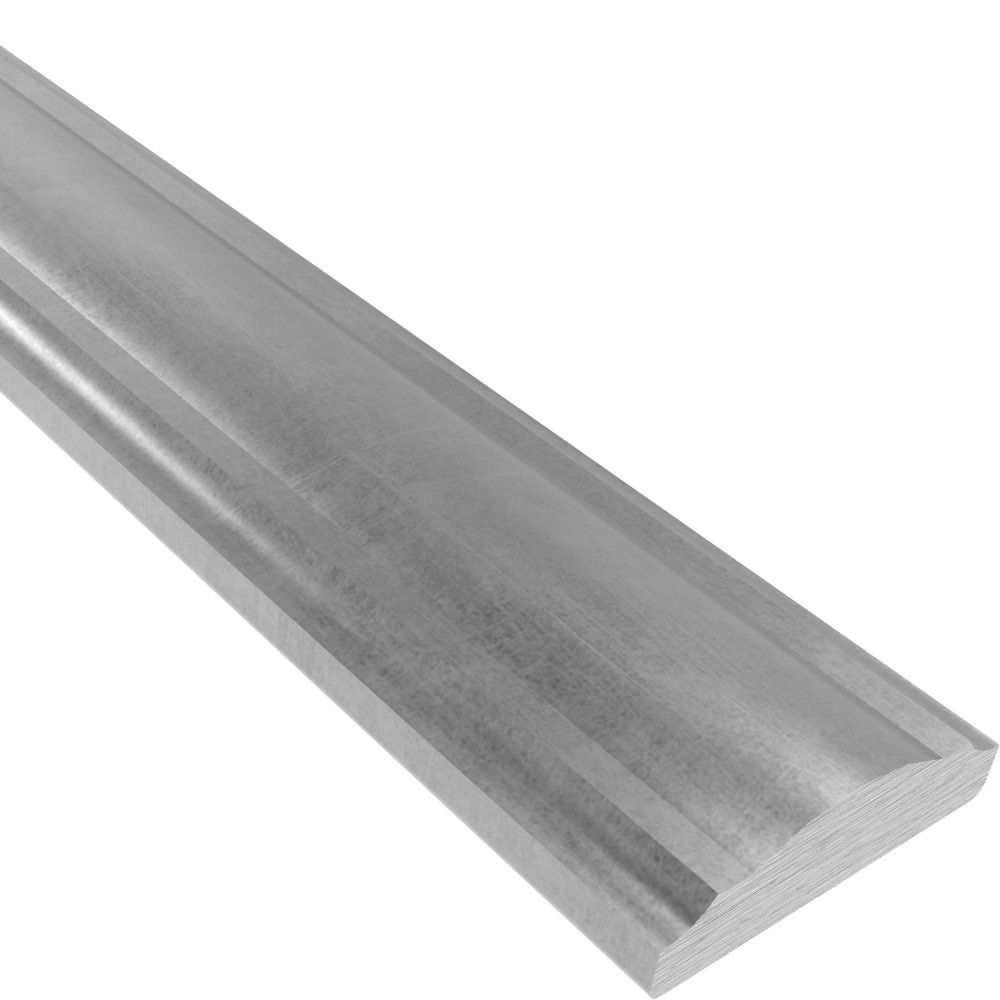 Handlauf | 59x9 mm | Halbrund | 3650 mm Stahl | Stahl (Roh) S235JR