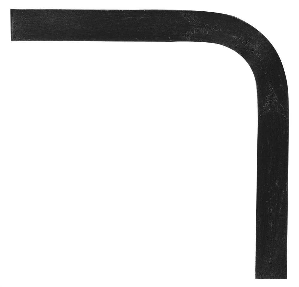 Handlauf-Bogen 90° 40x8 mm (glatt) Stahl   Stahl S235JR, roh