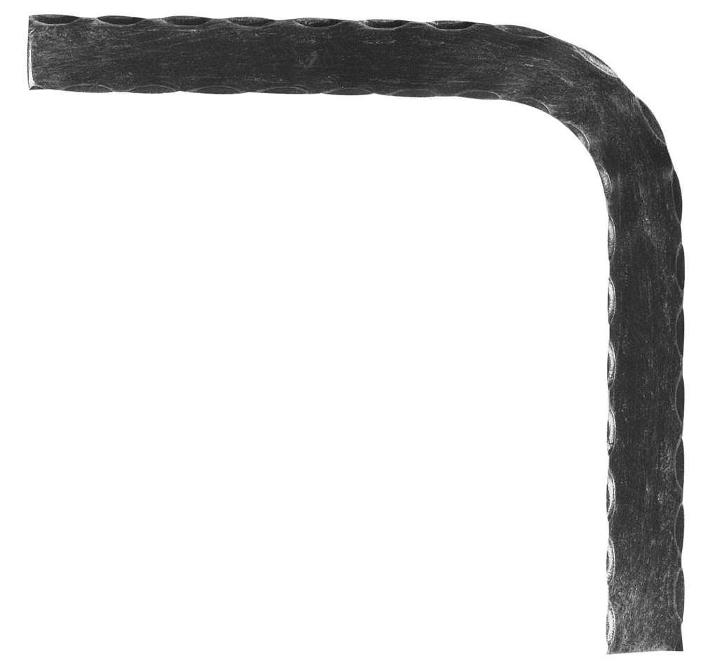 Handlauf-Bogen 90° 40x8 mm (gehämmert) Stahl   Stahl S235JR, roh