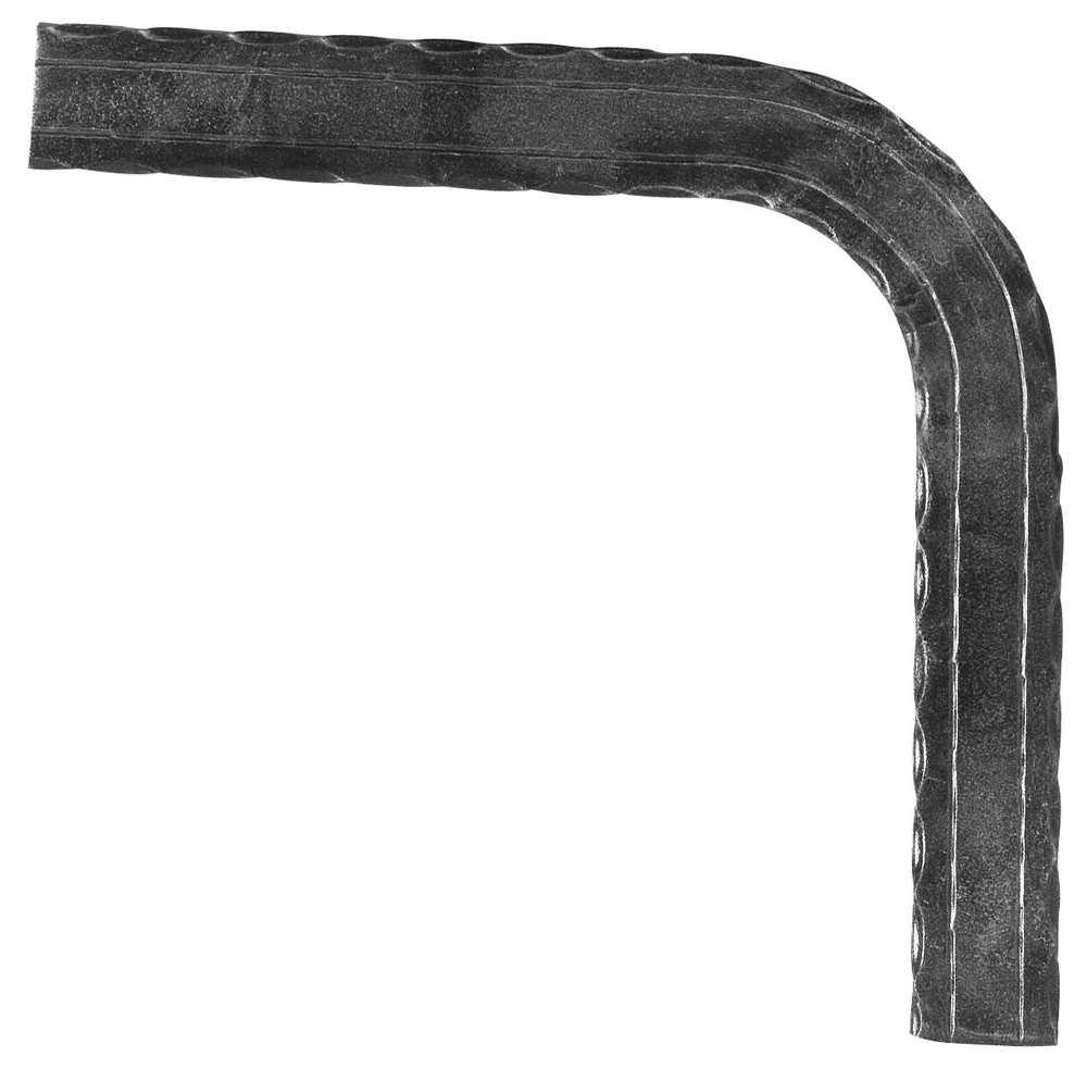 Handlauf-Bogen 90° 50x10 mm (geh.+2 Rillen) Stahl   Stahl S235JR, roh