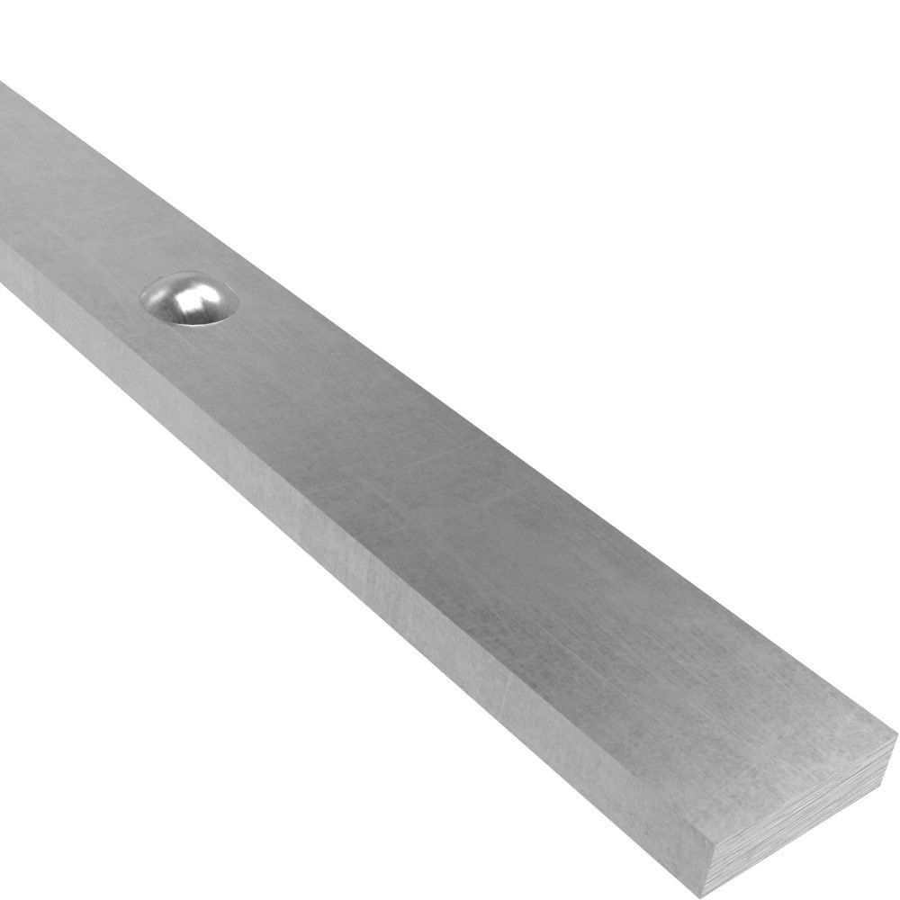 Hespeneisen mit Nieten | 30x8 mm | Nietenabstand 120 mm | 3000 mm Stahl | Stahl (Roh) S235JR