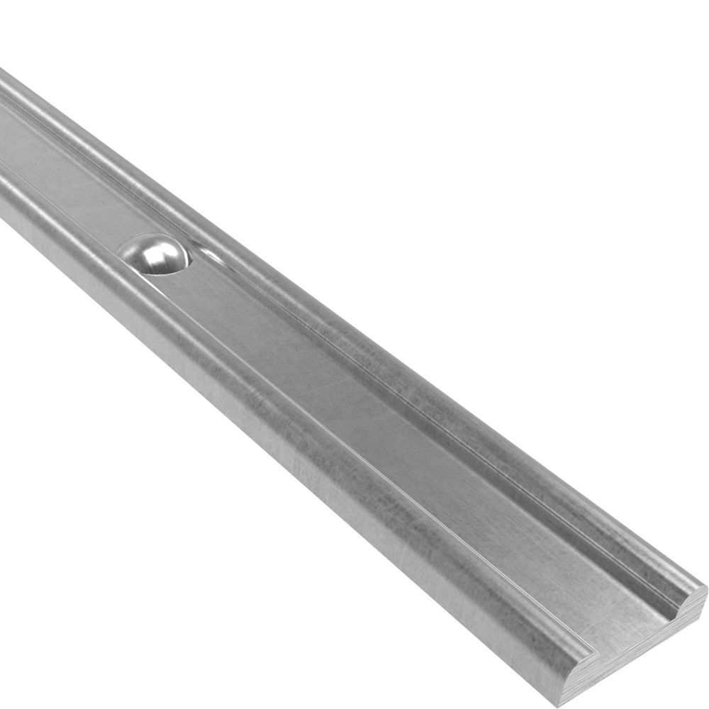 Hespeneisen mit Nietenköpfen | 30x8x4 mm | Nietenabstand 120 mm | 3000 mm Stahl | Stahl (Roh) S235JR
