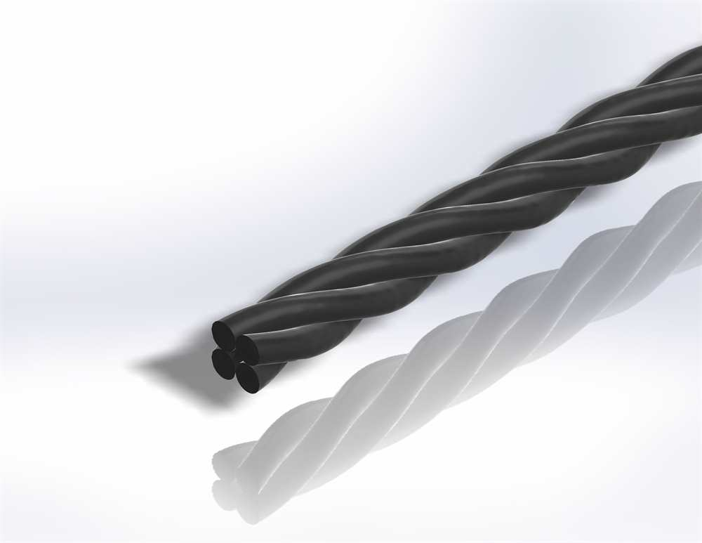 Gereeperter Handlauf | Material Ø 40 mm | Länge 2700 mm | Stahl (Roh) S235JR